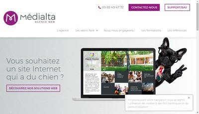 Site internet de Medialta