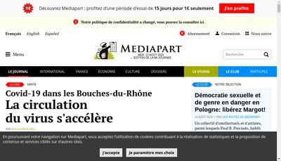 Site internet de Mediapart