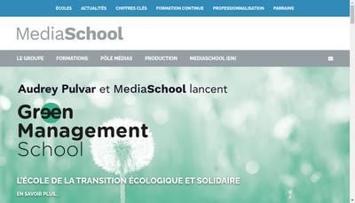 Site internet de Mediaschool Group
