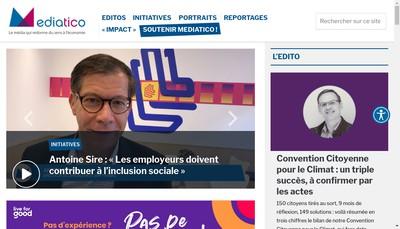 Site internet de Mediatico
