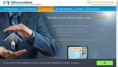 Site internet de Médiation Immo