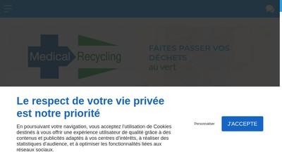 Site internet de Medical Recycling