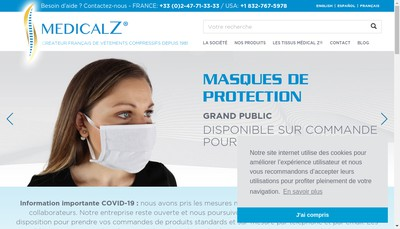 Site internet de Z Concept Medical