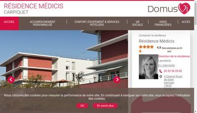 Site internet de La Residence Medicis