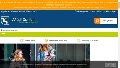 Site internet de Espace Sante Medi-Confort