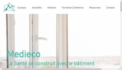 Site internet de Medieco Conseil & Fromation