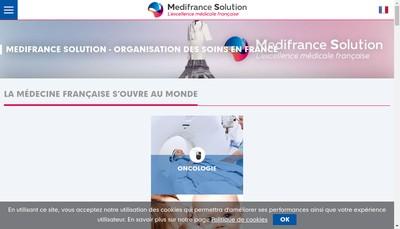 Site internet de Medifrance Solution