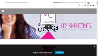 Site internet de Mega Optic Design
