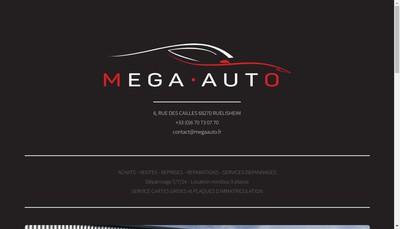 Site internet de Mega Auto