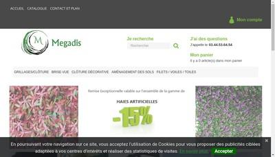Site internet de Megadis