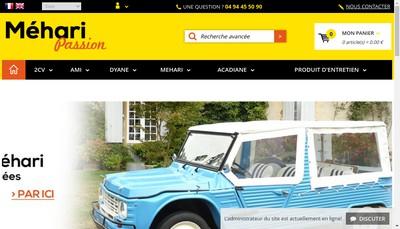 Site internet de Mehari Passion