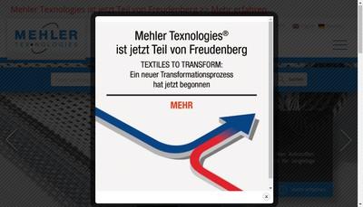 Site internet de Mehler Texnologies