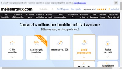 Site internet de Meilleurtaux Com
