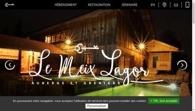 Site internet de Le Meix Lagor