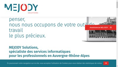 Site internet de Mejody Solutions