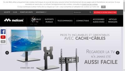 Site internet de Meliconi France
