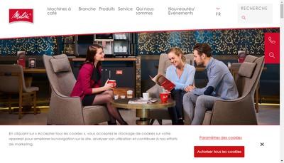 Site internet de Melitta Professional Coffee Solutions