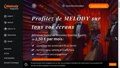 Site internet de Tele Melody