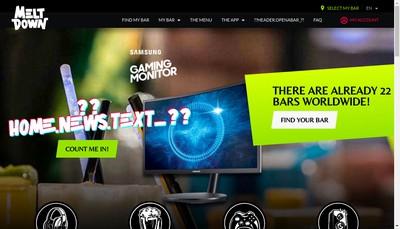 Site internet de Meltdown Paris