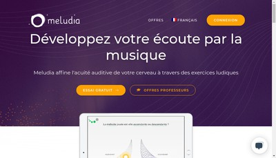 Site internet de Meludia