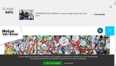 Site internet de Melun Val de Seine Amenagement