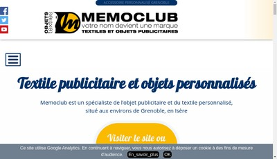 Site internet de Memoclub