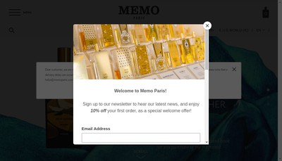 Site internet de Memo Paris