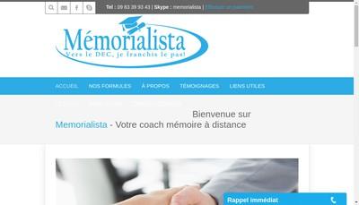 Site internet de Memorialista