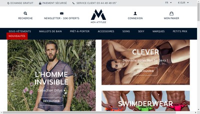 Site internet de Men Attitude