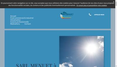 Site internet de SARL Menuet