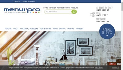 Site internet de SARL Menui'Pro