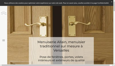 Site internet de Menuiserie Allain