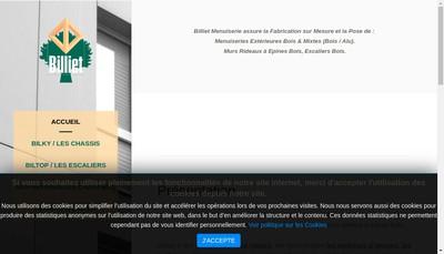 Site internet de SARL Billiet