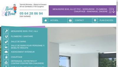 Site internet de Maison et Travaux Yannick Bonneau