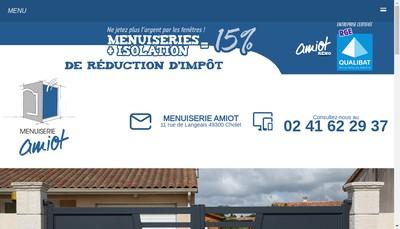 Site internet de Menuiserie Amiot