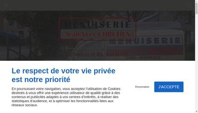 Site internet de Menuiserie Jean-Yves Chretien