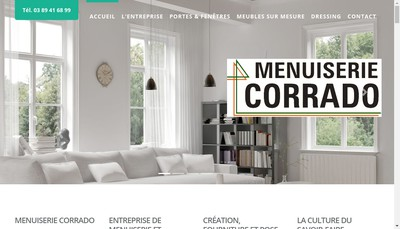 Site internet de Menuiserie Ebenisterie Corrado Valentin