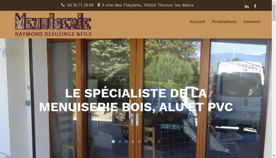 Site internet de Desuzinge Raymond et Fils SARL