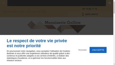 Site internet de Menuiserie Jean-Pierre Gallice