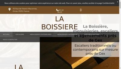 Site internet de La Boissiere