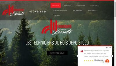 Site internet de Menuiserie Lecomte SAS
