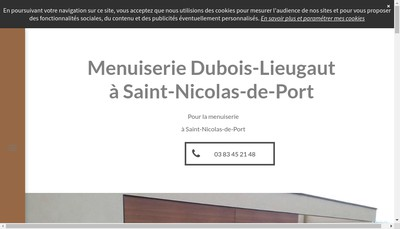 Site internet de Menuiserie Dubois-Lieugaut