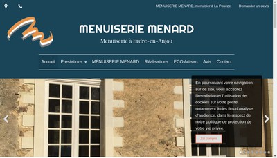 Site internet de Menuiserie Menard