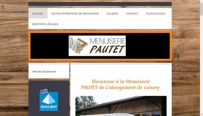 Site internet de Menuiserie Pautet