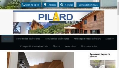 Site internet de Menuiserie Pilard