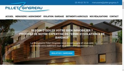 Site internet de Menuiserie Pillet Gingreau