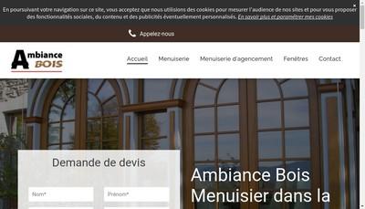 Site internet de Ambiance Bois