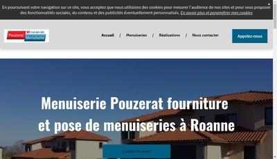 Site internet de Menuiserie Pouzerat