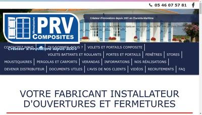 Site internet de PRV Composites