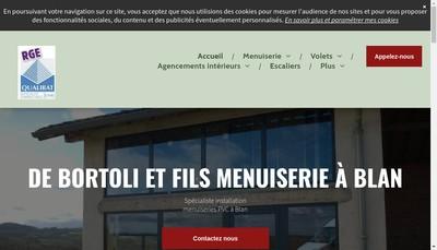 Site internet de SARL de Bortoli et Fils
